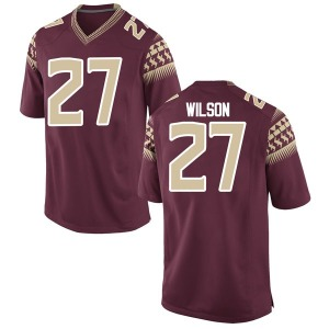Men's Ontaria Wilson Nike Florida State Seminoles Men's Replica Garnet Football College Jersey