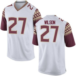 Ontaria Wilson Nike Florida State Seminoles Youth Game Football College Jersey - White